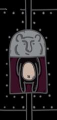 鉄のクマ(左)・ケース