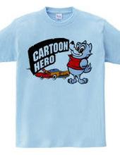 Cartoon Hero Wolf & Car