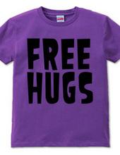 FREE HUGS (Standard Font 1 BK)