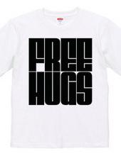 FREE HUGS (Standard Font 7 BK)