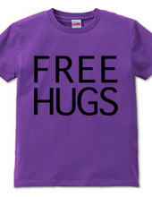 FREE HUGS (Standard Font 8 BK)
