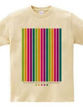 Multi-colored vertical stripes