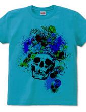 flower hear skull