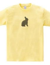 ウサギのステンシル
