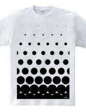 polka-dot pattern (Black)