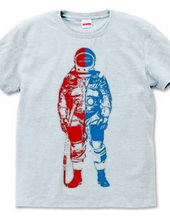 2-tone ASTRONAUT RED BLUE