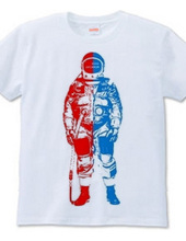 2-tone ASTRONAUT RED×BLUE
