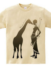 Giraffe meets Girl