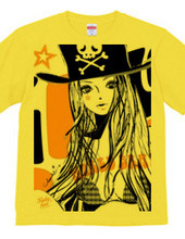 PIRATE BABY GIRL ORANGE BUST