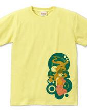 金魚と女性(カラー)