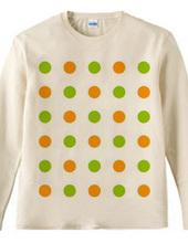 120-dots2(olive/orange)