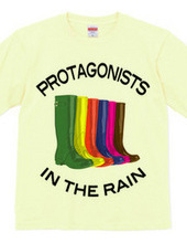Protagonists in the rain