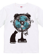 ネコとクマ扇風機。