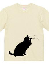 猫の糸電話 黒02