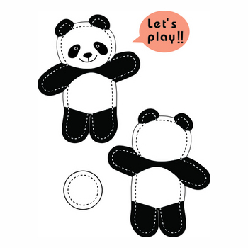 The stuffed toy of the panda.