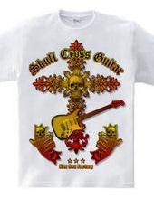 Guitar skull Cross
