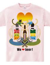 """""""We love beer!"""" Colorful"""