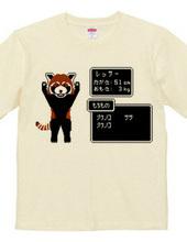 Dot painting Red Panda