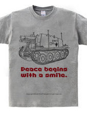 peace begins with a smile.