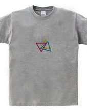 triangle pink yellow blue