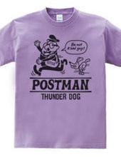 The postman and thunder dog