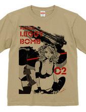 LEGGY BOMB PIN-UP GIRL