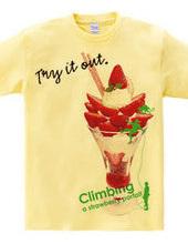 Climbing strawberry parfait