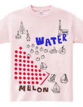 Melon and water