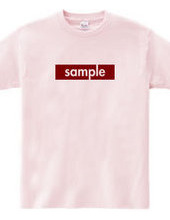Sample T shirt ~red~