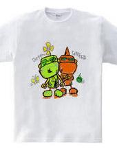 ロボットのグリーンとグリード