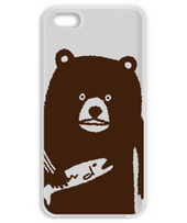 Bear hunting salmon(brown)