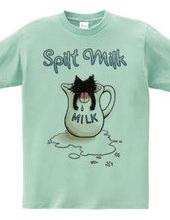 ベロ出し猫とこぼれたミルク