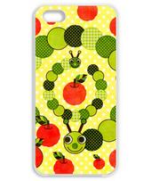 Apple and caterpillar