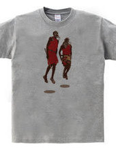 "African art   Fighter * ""Masai trib"