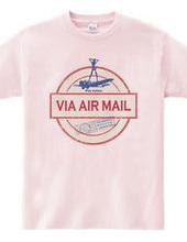 航空便スタンプ★パラビオン_VIA AIR MAIL/design A