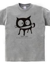 Love black cat  mascot character to me t