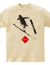 Ski jumping Penguin-Kun  challenge to an