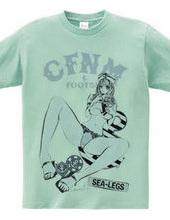 CFNM & FOOTSIE セーラー ガールズイラスト