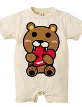 Baby bear with heart