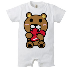 ロンパース/ Baby bear with heart