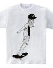 Beard Skateboarder