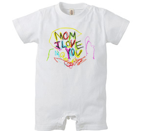 ロンパース/ MOM I love you