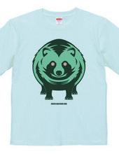 green raccoon dog