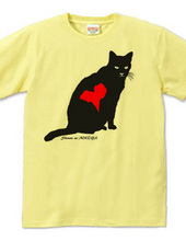 Stray cat silhouette  heartmark