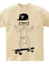 Baby Skateboarder