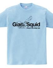 Deep sea King giant squid stylish design