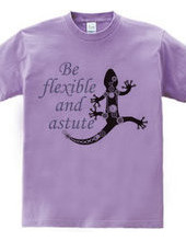 Steampunk-style lizard: Be flexible and