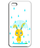 Rabbit on a rainy day