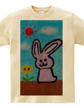 Bunnies and flowers and sun dot version