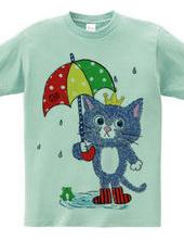 Cat king with Umbrella